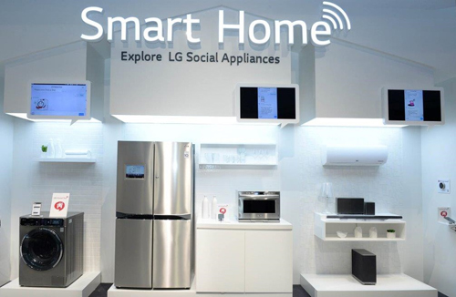 the new lg smart home has been presented at ifa 2014 home appliances world. Black Bedroom Furniture Sets. Home Design Ideas