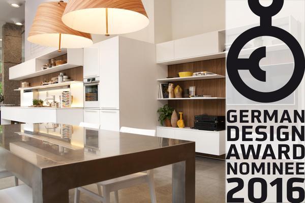 Veneta cucine nominated for the german design award 2016 home appliances world for Cucine design 2016