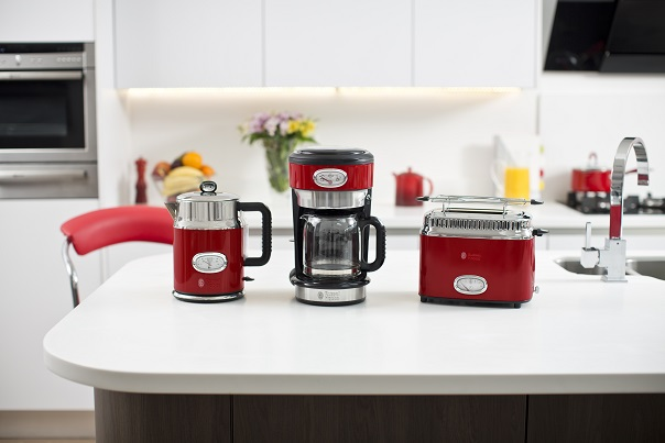 russell hobbs british brand of design small appliances for the kitchen and the home launches retro the new range of appliances for breakfast inspired by     the new retro collection by russell hobbs   home appliances world  rh   homeappliancesworld com