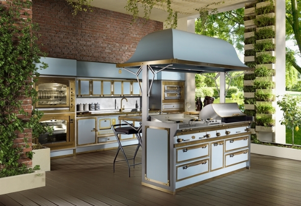 Pacific Light Blue, the new outdoor kitchen by Officine Gullo - Home on house bed rooms, house dining room, house stir,