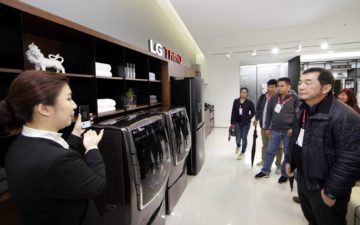 LG presents its AI-enabled appliances during the Asian InnoFest