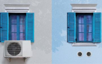 Unico Air Inverter by Olimpia Splendid saves space and energy