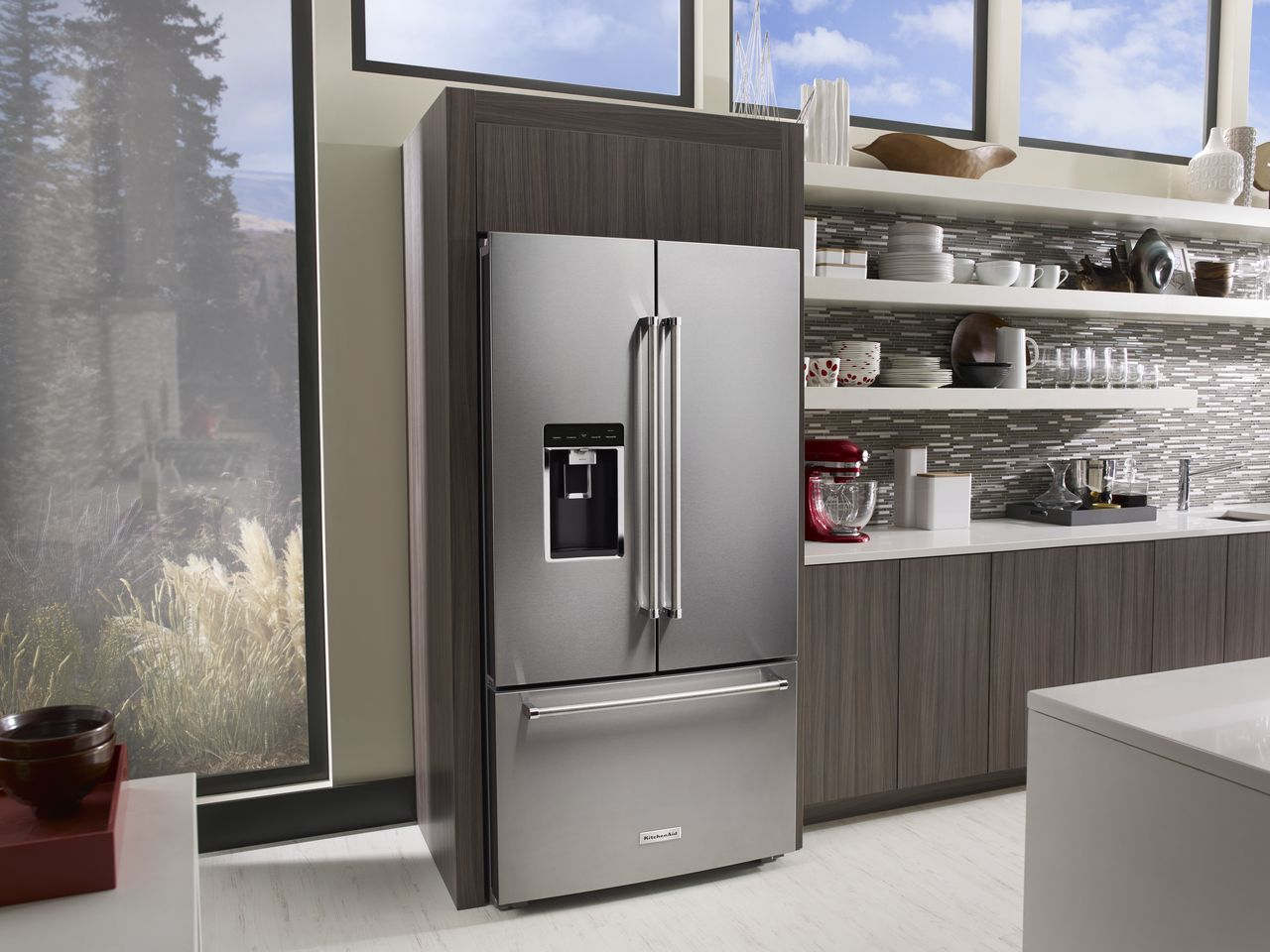 The Big Three Door Fridge By Kitchenaid Home Appliances